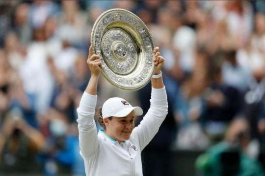 Fakta singkat Ashleigh Barty, juara baru Wimbledon