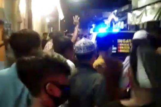 Polisi sesalkan kericuhan operasi PPKM darurat di Surabaya