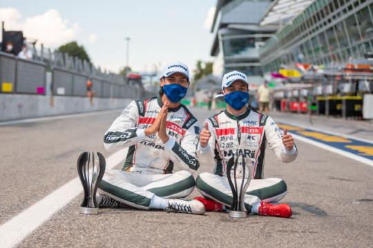 Sean Gelael naik podium di balapan ELMS Italia