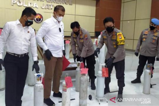 Polda Jatim ungkap penjualan tabung oksigen melebihi HET