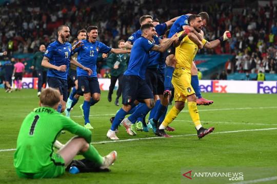 Italia juara Euro 2020 seusai tundukkan Inggris lewat adu penalti