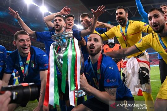Jadi pencetak gol tertua, Bonucci 'star of the match' final Euro 2020