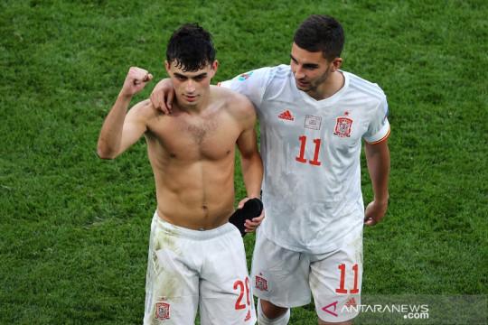 Pedri sabet penghargaan Pemain Muda Terbaik Euro 2020