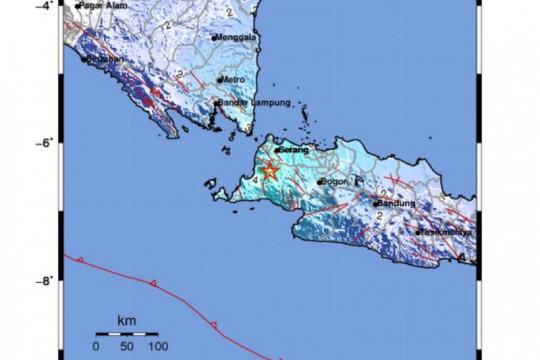 Gempa magnitudo 5,2 Pandeglang dipicu deformasi lempeng di zona Beniof