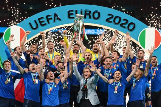 Beragam reaksi atas gelar juara Euro 2020 diraih Italia