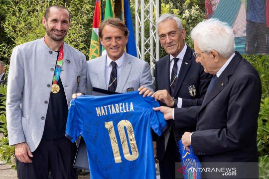 Juara Piala Eropa 2020, pemain Italia diundang khusus oleh Presiden Mattarella