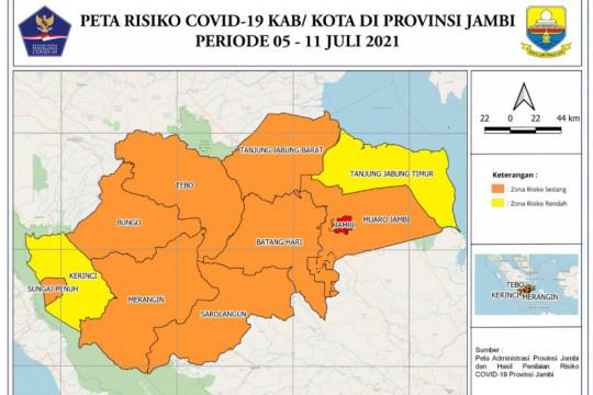 Rekor baru, 352 warga Jambi terkonfirmasi positif COVID-19