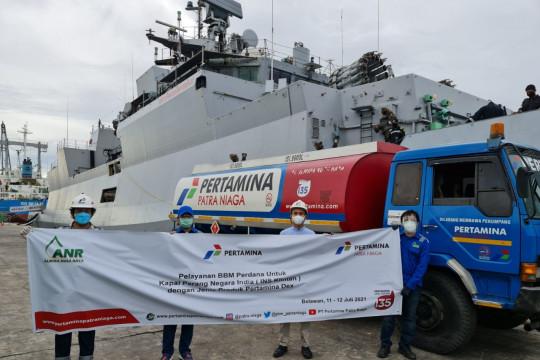Pertamina salurkan 154 kiloliter bahan bakar untuk kapal perang India