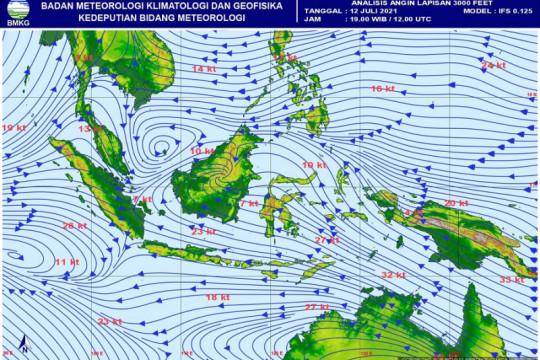 BMKG prakirakan seluruh wilayah Jakarta cerah berawan