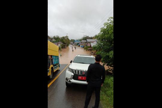 Banjir melanda setidaknya enam wilayah kecamatan di Kapuas Hulu