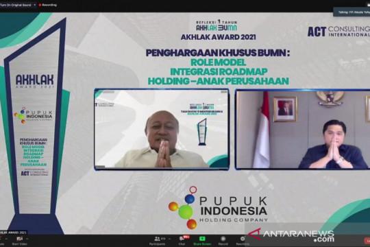 Pupuk Indonesia raih penghargaan dalam ajang AKHLAK Award 2021