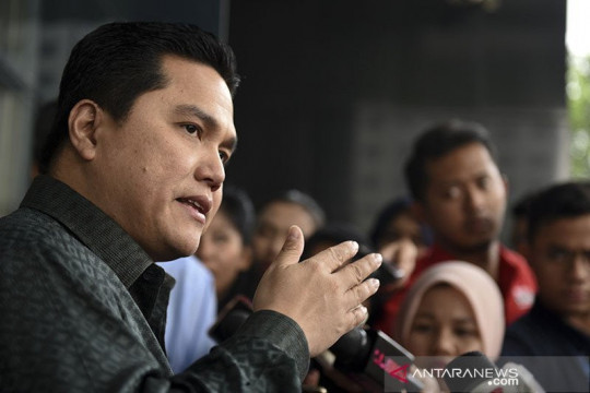 Erick Thohir  semangati kontingen Indonesia di Tokyo