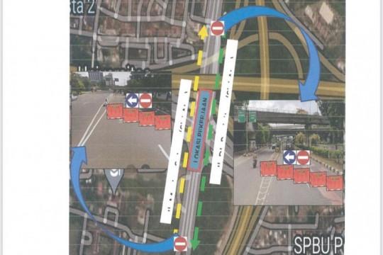 Sudinhub Jaktim rekayasa arus lalu lintas di lintas bawah Cawang