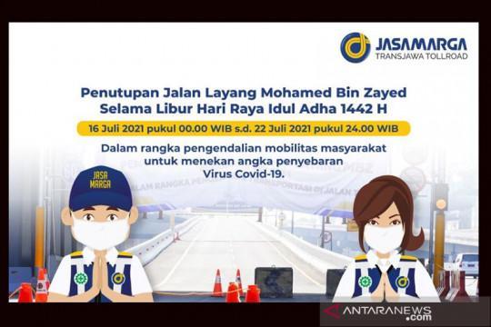 Libur Idul Adha, Jasa Marga tutup Tol Layang MBZ selama 16-22 Juli