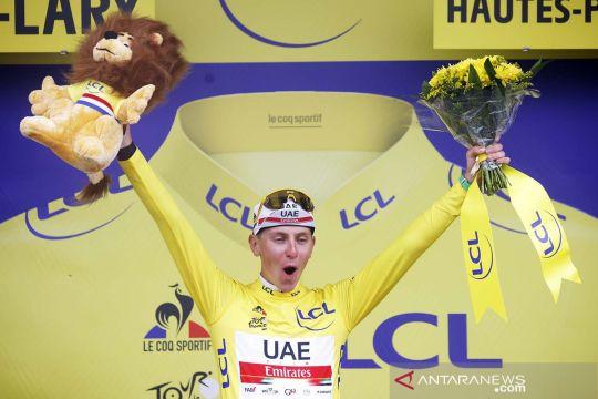 Juara etape 17 Tour de France, Tadej Pogacar semakin kokoh kenakan jersey kuning