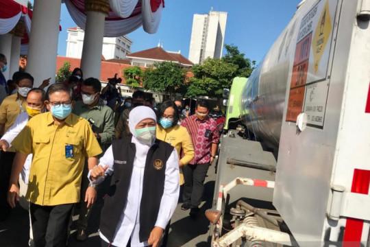 Pemerintah Provinsi Jawa Timur terima bantuan 9 ton oksigen cair