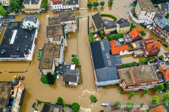 Belanda dan Belgia dilanda banjir akibat curah hujan yang tinggi