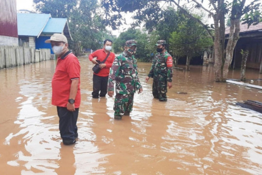 Banjir di pedalaman Kotawaringin Timur Kalteng semakin tinggi