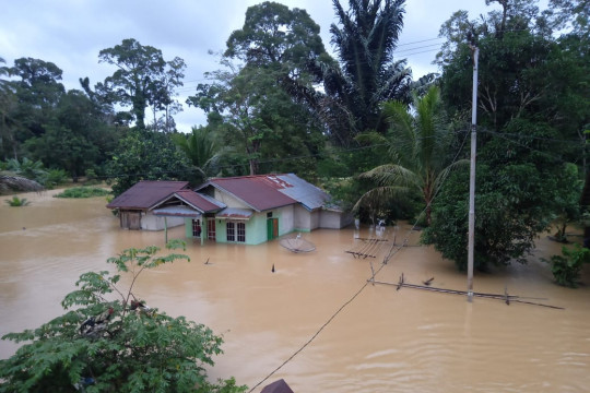 BNBP: Empat kecamatan di Kabupaten Sintang masih terendam banjir