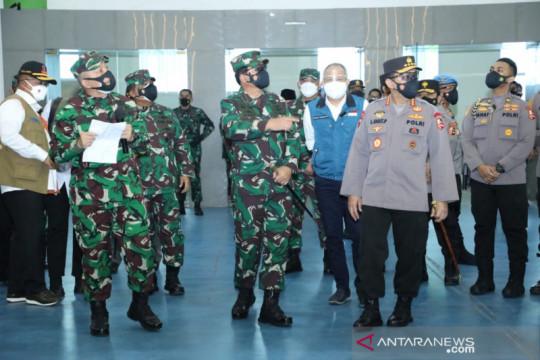 Panglima TNI tinjau vaksinasi dan PPKM darurat di Bandung