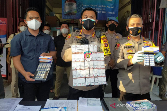 Polresta Bogor Kota temukan tiga apotik jual obat COVID-19 di atas HET