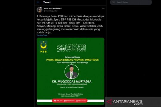 Yusril berduka atas meninggalnya Ketua Majelis Syuro PBB KH Muqaddas