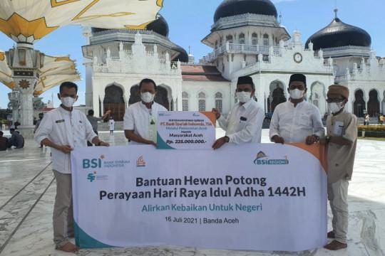 BSI serahkan hewan kurban untuk Aceh senilai Rp225 juta