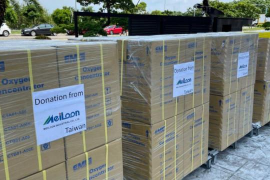 Perusahaan Taiwan sumbang konsentrator oksigen untuk Indonesia