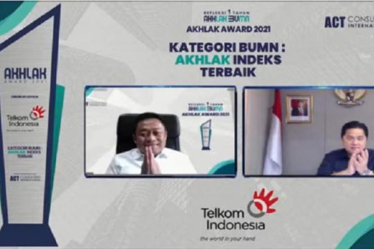 Telkom raih juara umum dan borong penghargaan di AKHLAK Award 2021