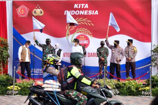 TNI-Polri salurkan 2.500 ton beras dan 70.000 paket sembako