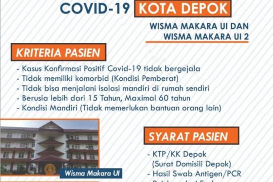Depok tambah 400 tempat tidur pasien COVID-19 OTG di Makara UI
