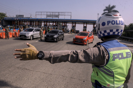 Korlantas: Mobilitas kendaraan menuju Jakarta turun 40 persen
