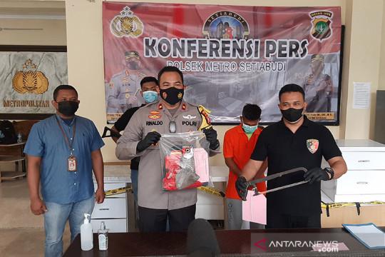 Polsektro Setiabudi ungkap kasus pencurian besi fondasi jalur monorel