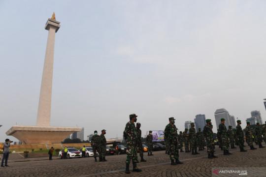 3.385 personel gabungan kawal demo tolak PPKM di Jakarta