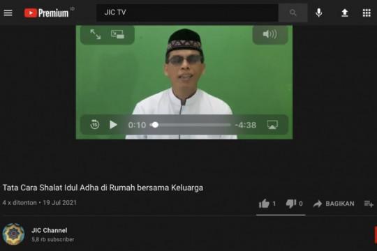 JIC gunakan Youtube untuk edukasi tata cara Shalat Idul Adha di rumah