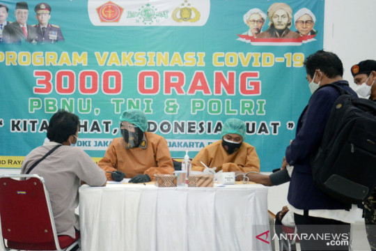 PWNU Jakarta gelar vaksinasi massal 3.000 dosis