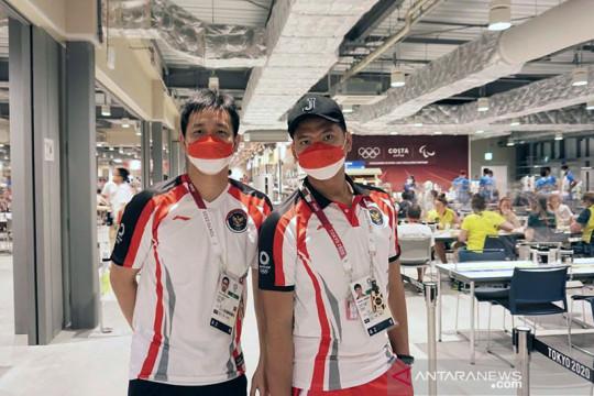 Tim bulu tangkis Indonesia tiba di Kampung Atlet Olimpiade