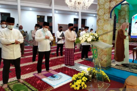 Gubernur Sumsel Shalat Idul Adha di rumah