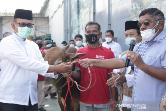 Ditjenpas serahkan sapi kurban Menkumham ke Lapas Cipinang
