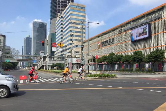Jalan protokol Jakarta Pusat lengang saat Idul Adha