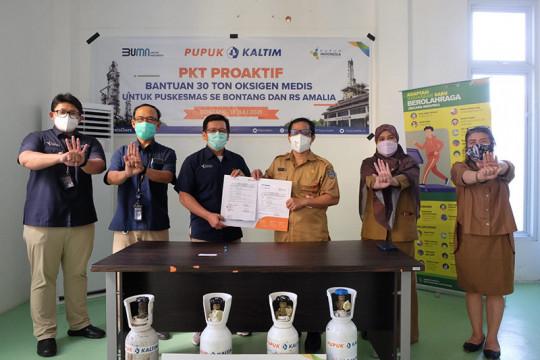 Pupuk Kaltim salurkan 30 ton oksigen medis ke rumah sakit di Bontang