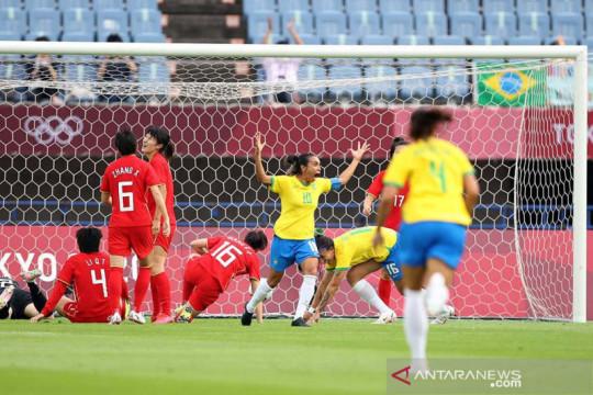 Jadwal Olimpiade sepak bola putri: Belanda vs Brazil di grup F