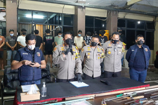 17 orang jadi tersangka tawuran di Pasar Manggis Jakarta Selatan