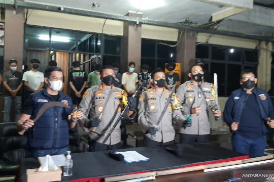 Pasukan gabungan jaga lokasi tawuran di Pasar Manggis