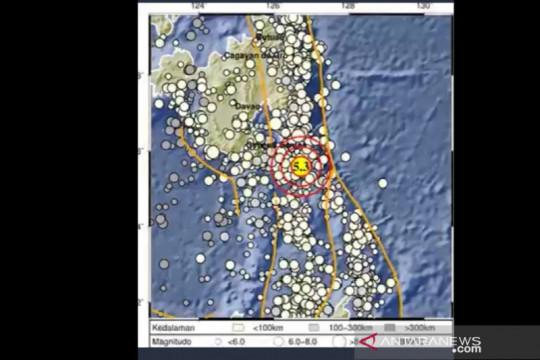 Gempa magnitudo 5,3 guncang Melonguane, Sulut