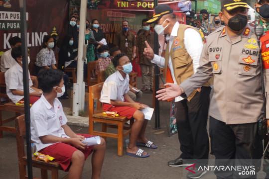 Kasatgas COVID-19 apresiasi anak-anak ikut vaksinasi di Gambir