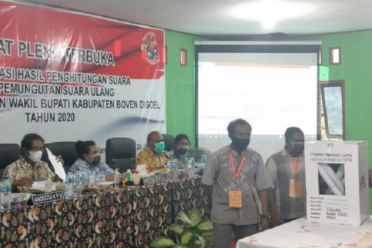 Lebih 200 anggota TNI-Polri amankan pleno rekap PSU Boven Digoel