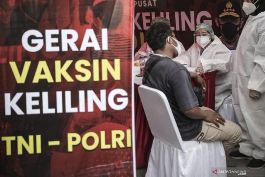 Vaksinasi keliling TNI Polri menyasar daerah pinggiran Jakarta