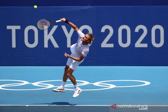 Mengintip latihan petenis Stefanos Tsitsipas di Olimpiade Tokyo