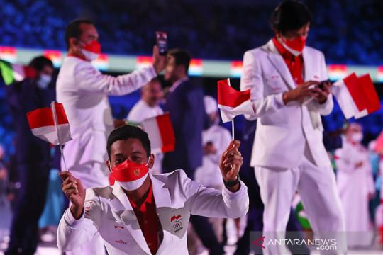 Rombongan terakhir tim Indonesia tinggalkan Tokyo bawa sekeping emas
